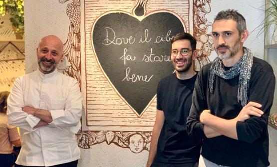 Niko Romito con l'imprenditore Marco Cecchini