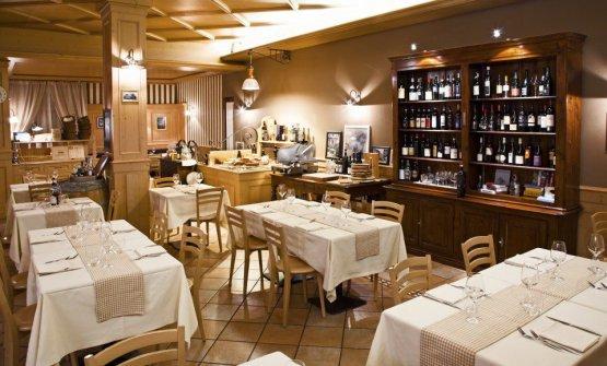La sala dell'Osteria Al Gigianca