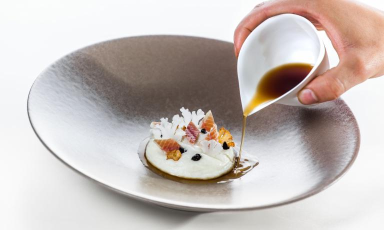Il piatto di Michele Lazzarini