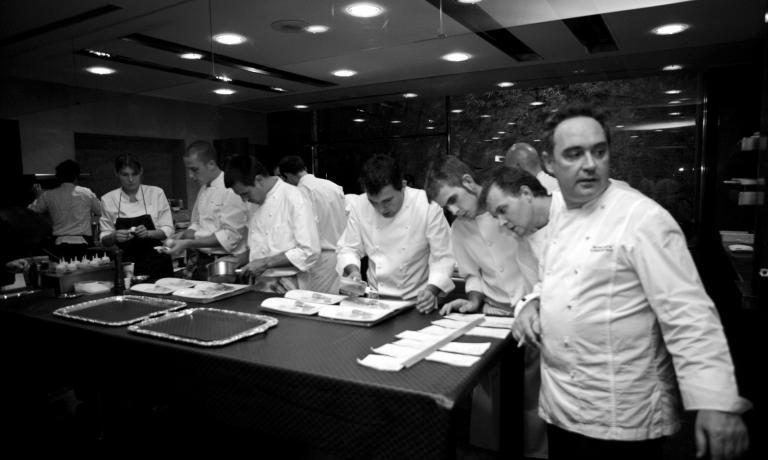Ferran Adrià in cucina a El Bulli