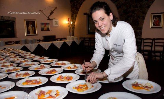Fabiana Scarica, con Bonetta Dall'Oglio e Cinzia Fumagalli protagonista dell'ottava edizione della Tavola cunzata