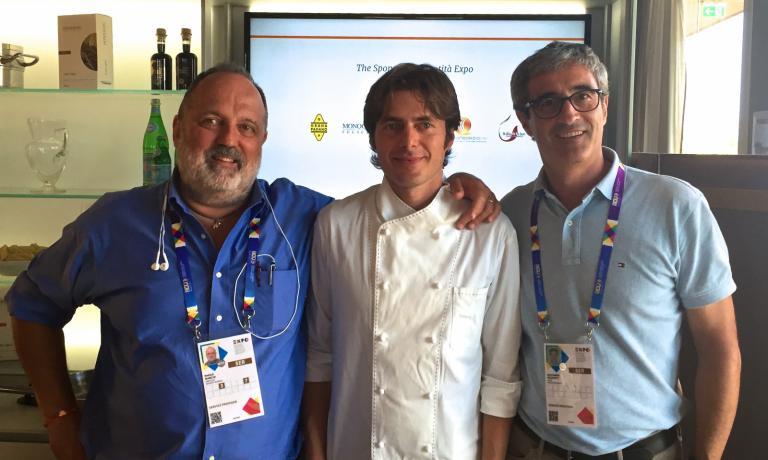 Trio di trentini: Paolo Marchi, Giuliano Baldessari e Riccardo Felicetti