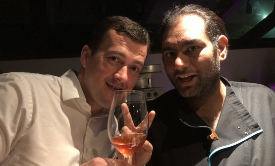 Gaggan with Vladimir Kajic, the restaurant's Serbian sommelier. They'll soon open Wet together, serving