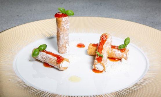 Per dessert,Rigatoni pomodoro e mozzarella