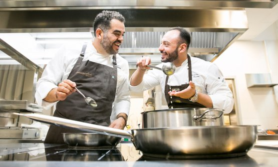 Con Alessandro Rinaldi, chef di casa in Romagnosi