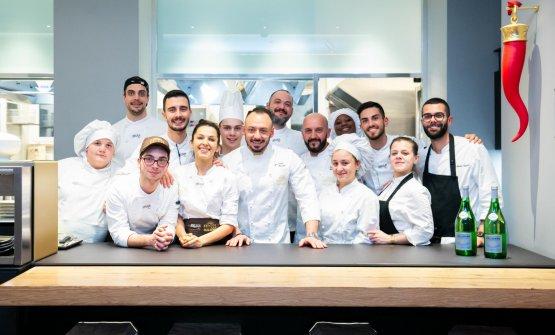 Florio e lo staff di Identità Golose Milano