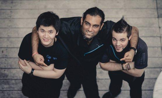 Gaggan Anand con due membri delsuo staff