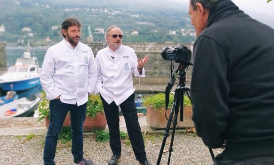 Sacco con Cesare Battisti
