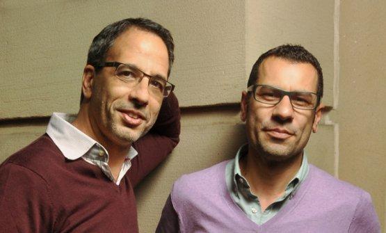 Yotam Ottolenghi, israeliano, con ilsocio palestineseSami Tamimi, cresciuto nella parte musulmana di Gerusalemme(foto Ottawacitizen)