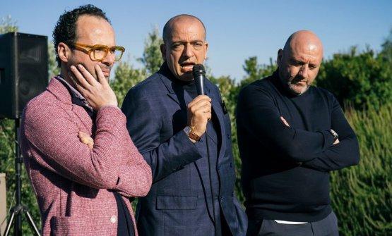 Da sinistra: Luciano Pennisi,Pino Cuttaia eTony Lo Coco