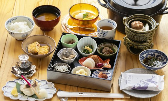 Japanese breakfast at the Grand Chariot
