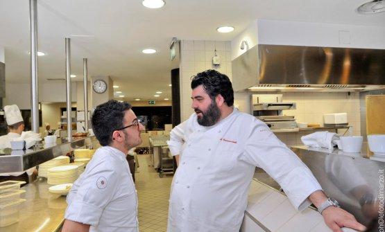 Anno 2014: Laera con Antonino Cannavacciuolo a La Rei