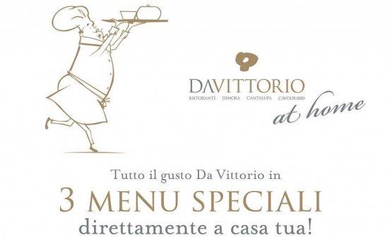 I Cerea propongono tre menu con consegna a domicilio e tutte le attenzioni che caratterizzano lo stile del Da Vittorio