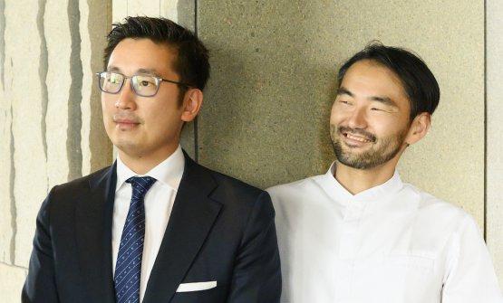 CUCINA LIBERA. Il patron Claudio Liu e lo chef Takeshi Iwai