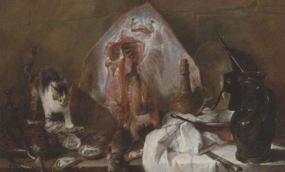 """""""La razza"""" o """"Interno di cucina"""" (Jean-Baptiste-Siméon Chardin, 1728)"""