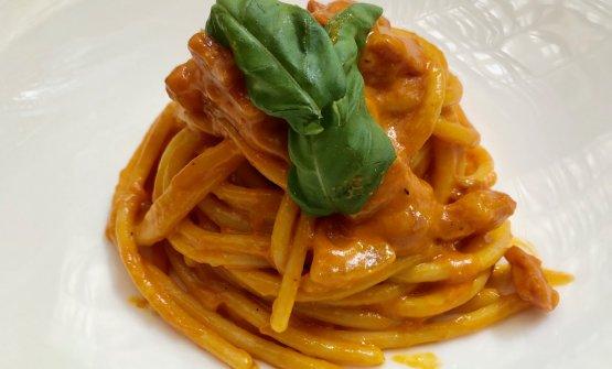 Spaghetti alla Sabatini, ovvero Spaghettoni flambé all'Amatriciana