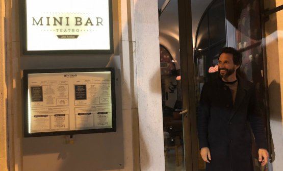 José Avillez in front of Minibar in Lisbon: petiscos (small plates) and cocktails