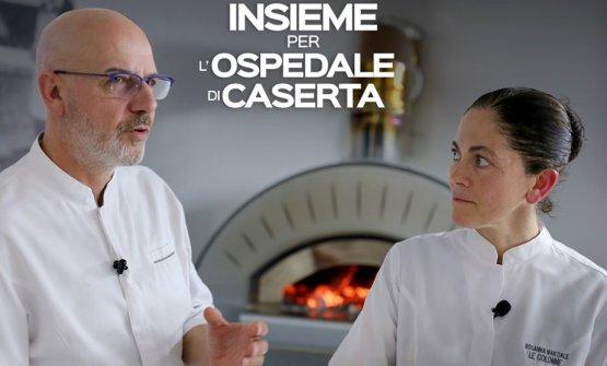 Rosanna Marziale ha aderito alla campagna di Franco Pepe per raccogliere fondi per l'Ospedale di Caserta