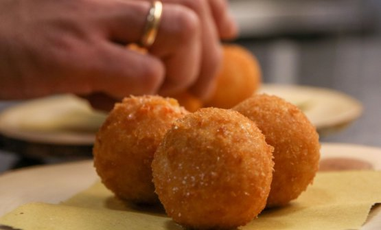 The arancini that Toca is preparing for delivery in these weeks of lockdown