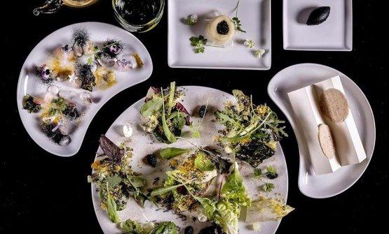 Le insalate di Enrico Crippa (foto Lido Vannucchi)