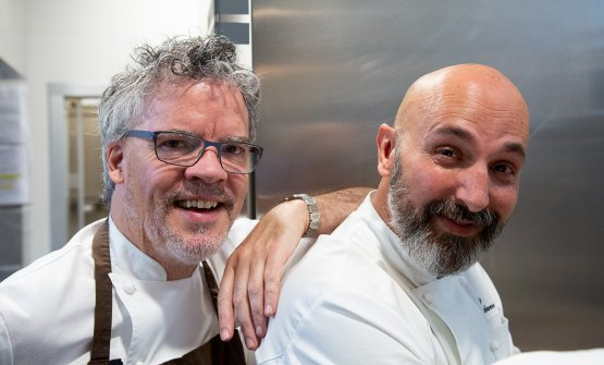 Peter Gordon, to the left, guest chef at Identit�
