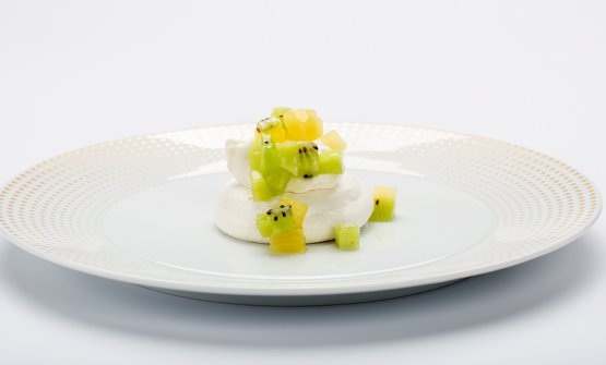 Baby pavlova, crema di miele Manuka Health, kiwi Zespri