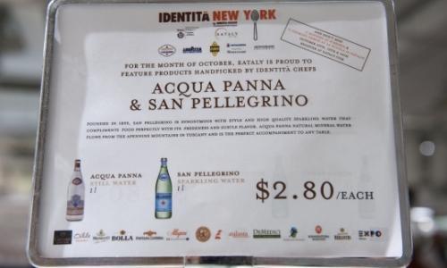 Acque del congresso: Acqua Panna e S.Pellegrino, acque ufficiali anche di Expo 2015
