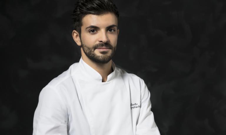 Alberto Sparacino, chef del ristorante Il Colombaio (Casole d'Elsa, Siena)