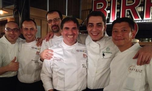 Da sinistra,Alessandro Stefoni (sous chef dell'h