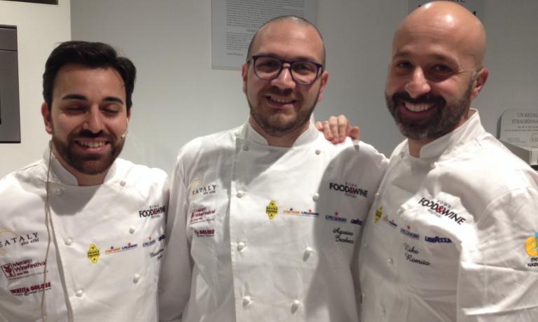 Da sinistra, Massimiliano Mascia, Agostino Iacobucci e Niko Romito