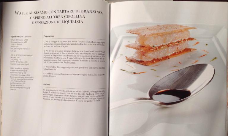 La seconda parte del volume è dedicata al ricettario di Giancarlo Perbellini, con 64 ricette divise in piatti di benvenuto, antipasti, primi, secondi e dessert