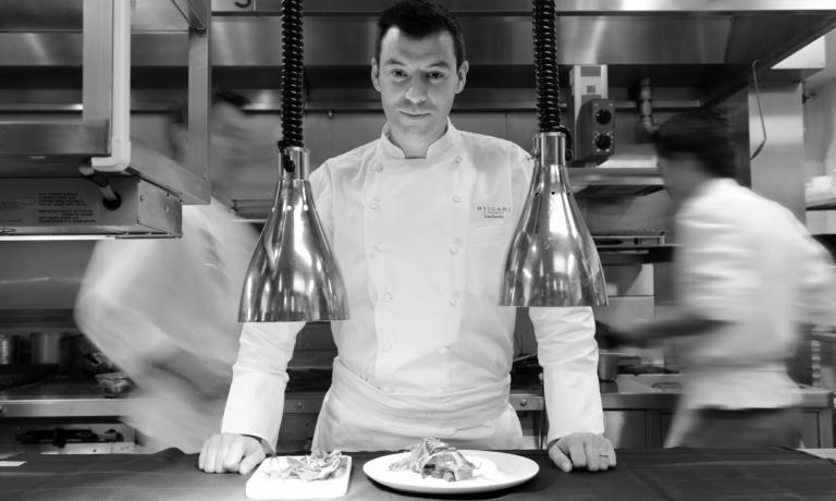 Luca Fantin, 35 anni, di Silea (Treviso), lavora dal 2009 al Bulgari Ginza Tower di Tokyo ed � chef dell'anno per Identit� Golose