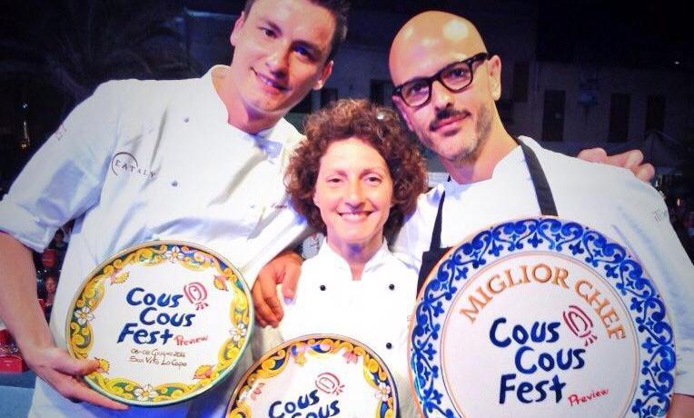 Panero in compagnia di Daniela Cicioni e Andrea Provenzani all'ultimo Cous Cous Fest di San Vito Lo Capo