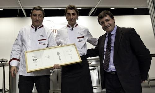 Chef Joan, pastry-chef Jordi and maître Josep�