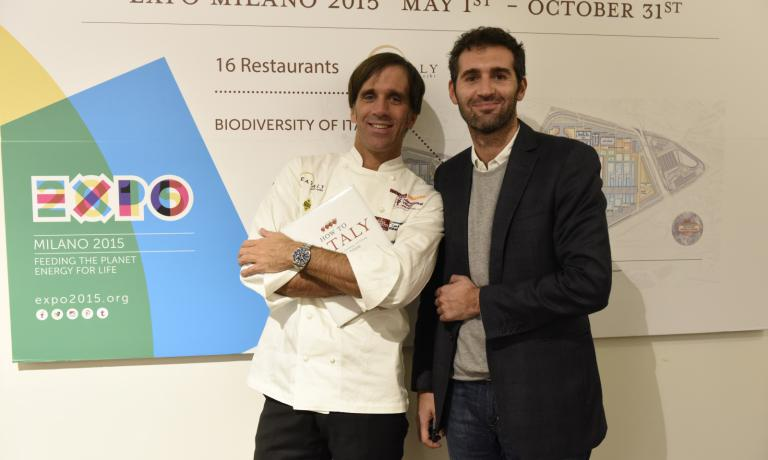 READY FOR EXPO. Davide Oldani with Eataly's Dino Borri