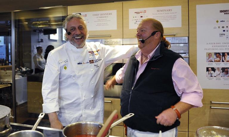 Davide Scabin and Mario Batali, the protagonists o