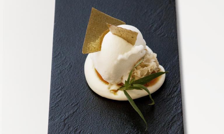 Il trentaduenne Giovanni Sorrentino, chef del ristorante di Salerno Vinile, ci racconta ispirazione e ricetta del piatto dolce che ha completato il menu con cui � arrivato tra i dieci finalisti del Premio Birra Moretti Grand Cru 2014