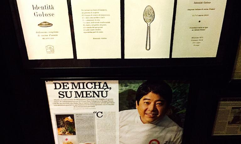 Mitsuharu Tsumura, per tutti Micha, chef e patron di Maido, è stato tra i relatori della dodicesima edizione di Identità Golose a MIlano, dal 6 all'8 marzo 2016