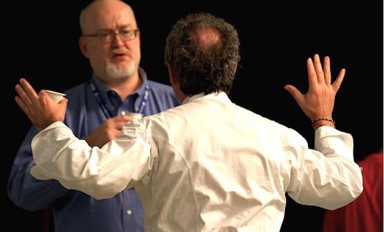 Bob Noto e, di spalle, Ferran Adrià