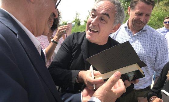 Ferran Adriàcelebrated at the castle in Grinzan