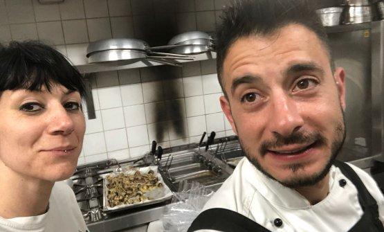 La Pezzellacon lo chefGiorgio Alessio Bracaglia