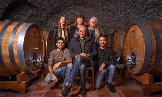 La famiglia Abrigo in cantina