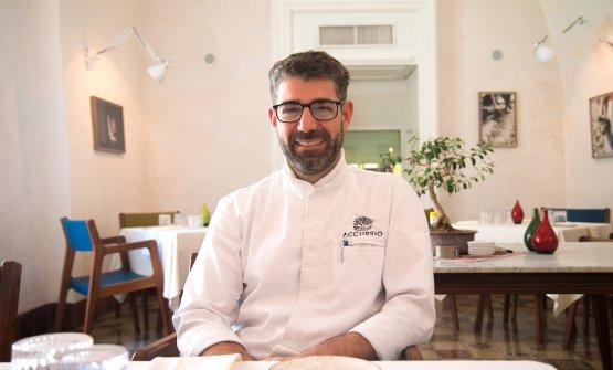 Accursio Craparo, chef e patron dell'omonimo ristorante