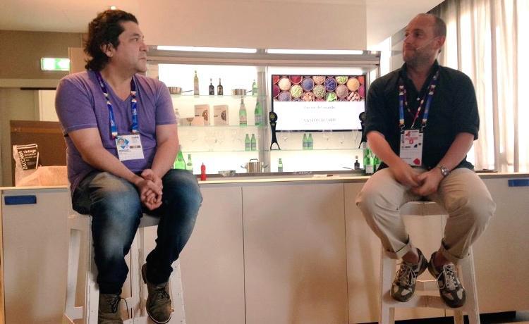 Acurio intervistato da Carlo Passera a Identità Expo