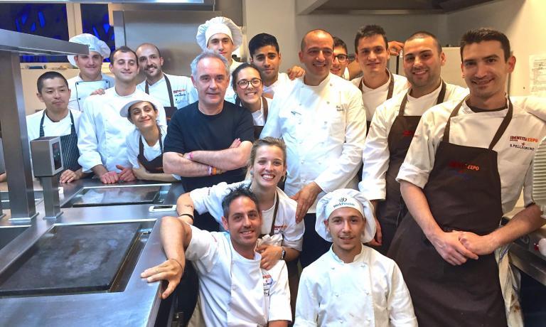Ferran Adrià poche ore fa a Identità Expo, insie
