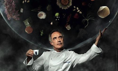 Lo scatto del calendario 2014 Inspiring Chefs di Lavazza dedicato a Ferran Adrià. L'autore èMartin Schoeller, l'agenzia creativa Armando Testa