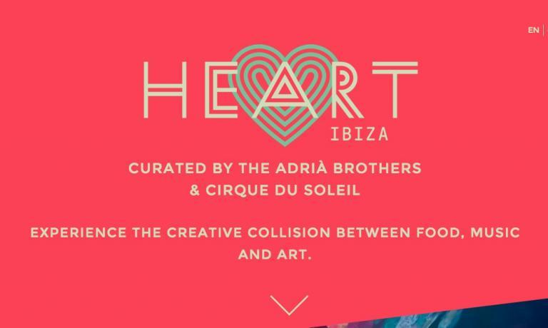 La homepage del nuovo sito www.heartibiza.com