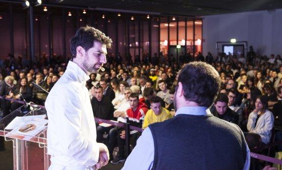 Alajmo e Marco Bolasco, presentatore della lezione