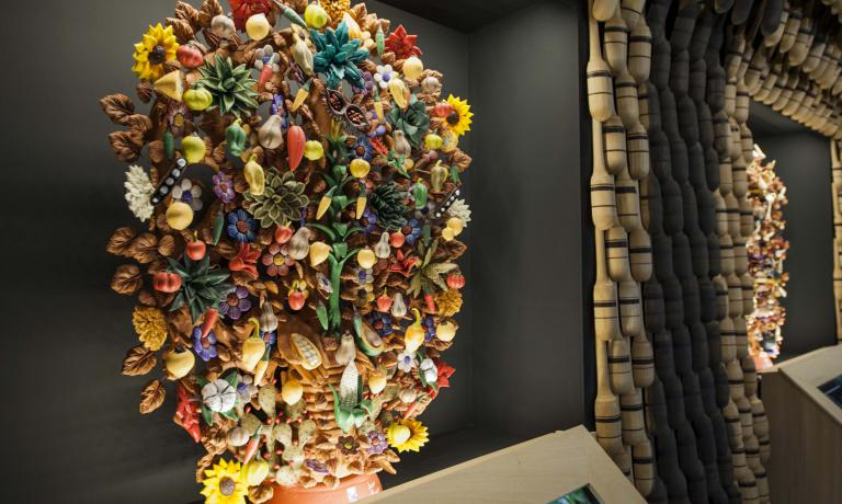 The Tree of life celebrates the indigenous fruits and vegetables of Mexico