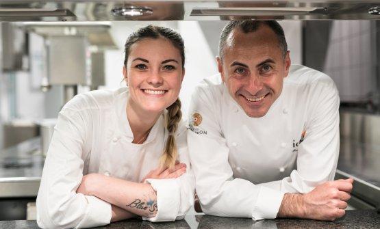 Francesco Apreda con la pastry chef di Idylio,Ed
